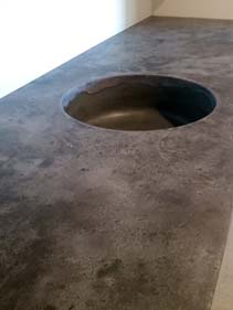 Dark Grey Concrete Counter Top