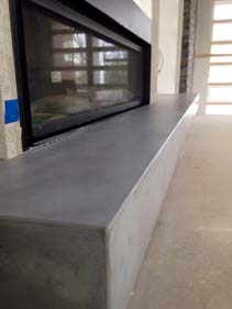 Gray Concrete Fire Place Hearth