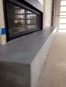 Clean Gray Concrete Fire Place Hearth