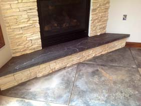 Charcoal Colored Fire Place Hearth