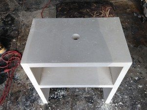 Solid White Concrete Side Table