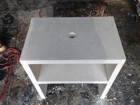 White Concrete Side Table