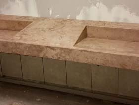 Tan Concrete Vanities