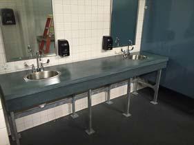 Aqua Concrete Restroom Vanity