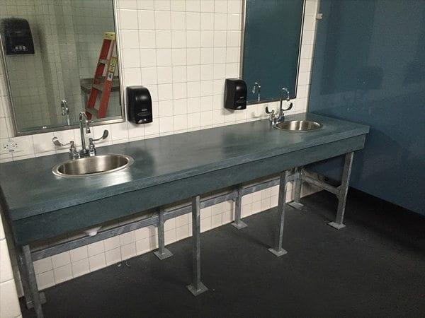 Aqua Concrete Restroom Vanity Top
