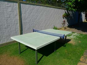 Outdoor Green Concrete Ping Pong Table