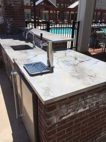 Grey Veined Poolside Kitchen Counter Top