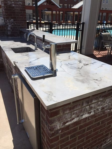 Light Grey Veined Poolside Kitchen Counter Top