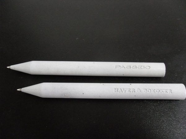 Small White Concrete Writing Utencils