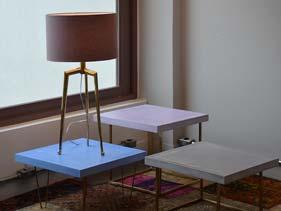Solid Color Concrete End Table