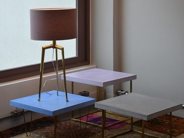 Solid Color Concrete End Table Tops
