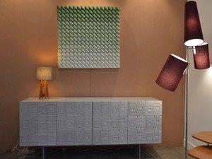 Green White and Grey Cement Tiles Custom Dresser Design