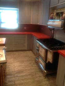 Red GFRC Kitchen Counter Top