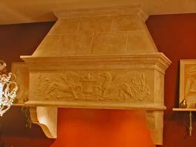 Griffon Styled Ornate White Concrete Range Hood