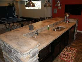 Stone Slab Concrete Counter Top