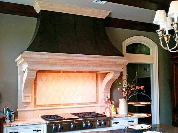 Black and White Modern Concrete Range Hood