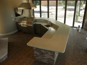 White Rock Face Concrete Counter