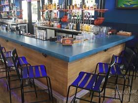 Blue Concrete Bar Top