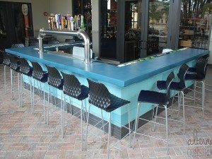 Turquoise Concrete Bar Counter Top