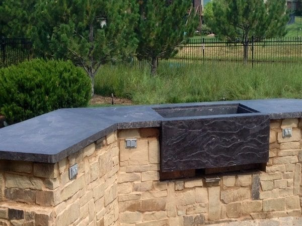 Gray Faux Stone Outdoor Slate Top