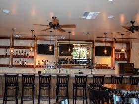 White Restaurant Concrete Counter Top