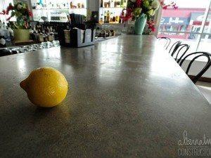 Cafe Bar Gray Concrete Counter Top
