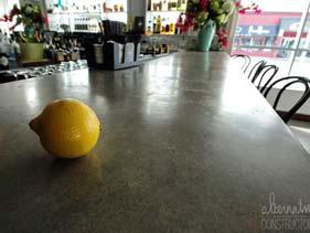 Bar Gray Concrete Counter Top