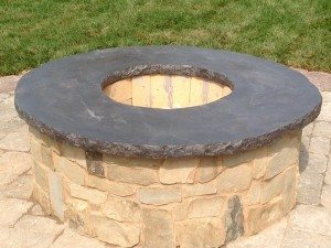 Slate Gray concrete Fire Pit Topper