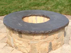 Gray Concrete Fire Pit Topper