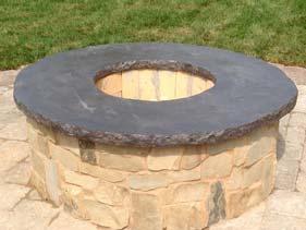 concrete fire pit topper