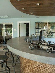 Wet Bar Natural Concrete Gray Counter Top