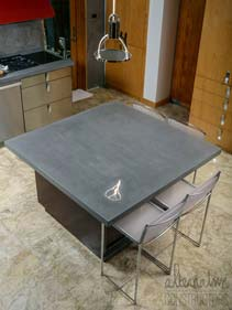 Concrete Gray Kitchen Island
