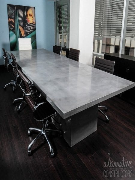 Natural Gray Concrete Conference Table