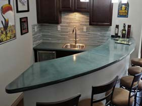 Residential Concrete Wet Bar