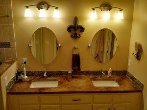 Antique Brown Stained Concrete Vanity Counter Top