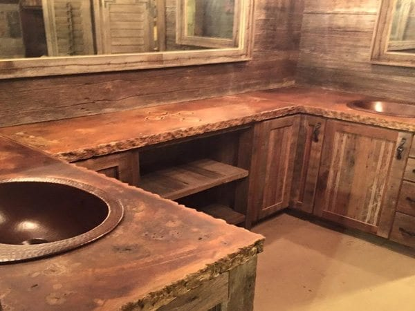 Old World Concrete Kitchen Counter Top