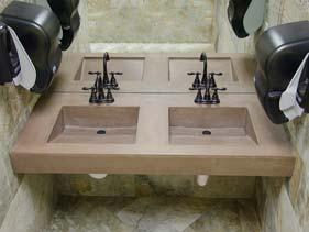Tan Concrete Bath Vanity