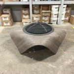 Wood Cast Concrete Fire Table