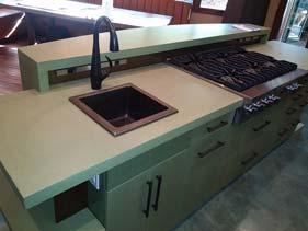 Cream White Concrete Kitchen Counter Top Terrazzo