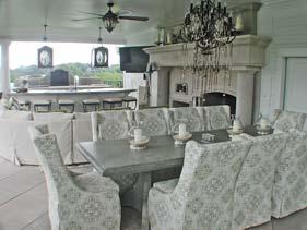 Light Gray Outdoor Concrete Patio Table