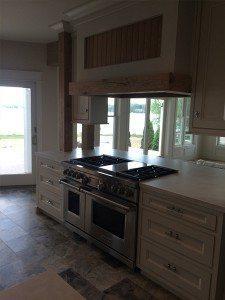 Thin White Concrete Kitchen Island