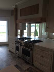 Very Thin White Concrete Kitchen Island Counter Top