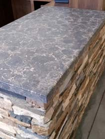 Concrete Grey and White Counter Top