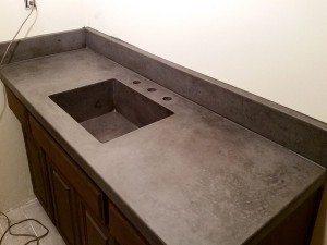 Slate Gray Bath Vanity Concrete Top Farm Sink