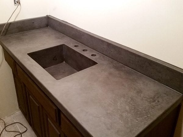 Slate Bathroom Sink : Slate Gray Bath Vanity Concrete Top Farm Sink