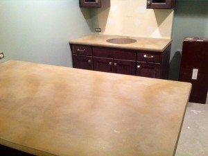 Tan Stained Concrete Counter Tops