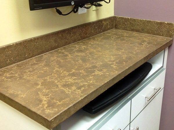 Dark Beige Concrete Desktop