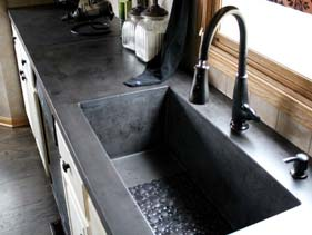 Natural Gray Concrete Kitchen Counter Top