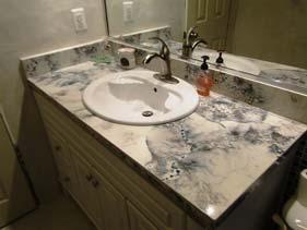Veined Concrete Bathroom Top