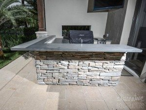 Outdoor Kitchen Grey Concrete Counter Tops
